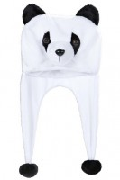 Plüschmütze Panda