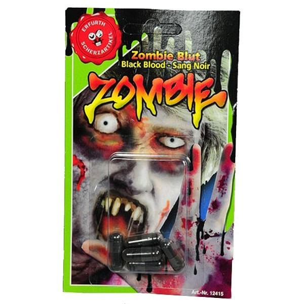 Blutkapseln Zombie, schwarz