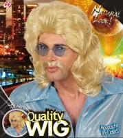 Perücke 70er-Jahre blond
