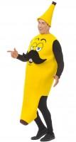 Kostüm Mr Banana gelb Overall mit Hut