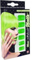 Neongrüne Fingernägel