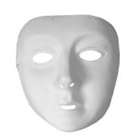 Fasnacht Frauenmaske zum Selbstbemalen