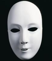 Weisse Damenmaske