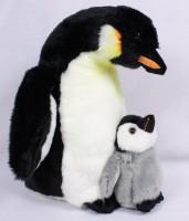Plüsch Pinguin mit Jungem