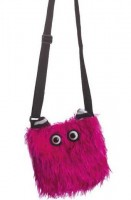 Pinke Plüsch-Monstertasche