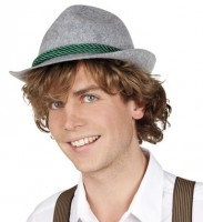 Bayernhut Ewald Filz mit grüner Kordel