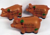 Sparschwein mit Spruch
