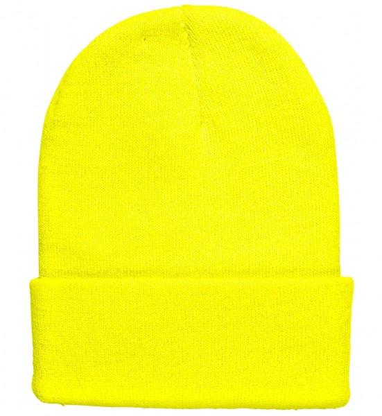Neongelbe Mütze