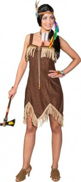 Kostüm Sexy Indianerin, braun Grösse 38 nur Kleid