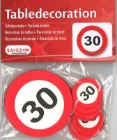 XL Tischkonfetti Verkehrschild 30