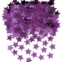 Amscan Deko-Konfetti Sterne violett