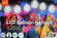 Weisse Ballongirlande mit LED