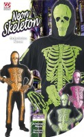 Skelettkostüm Neon M