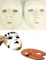 Gesichtsmaske weiss, bemalbar