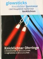 Rote Ohrring - Knicklichter