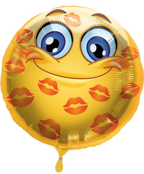 Silberfolienballon Emoticon Lips Love