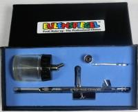 Airbrush Pistole mit Zubehör in Karton Eulenspiegel