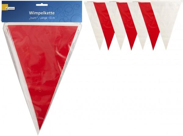 Wimpelkette rot/weiss