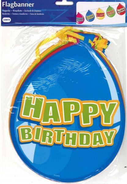 Wimpelkette Geburtstagsballone