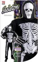 Jumpsuit Skelett 128cm