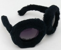 Sonnenbrille mit schwarzem Fell