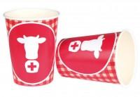 Schweizer Trinkbecher mit Kuhmotiv
