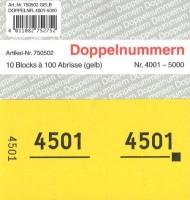Doppelnummer gelb 120x60mm 4001-5000