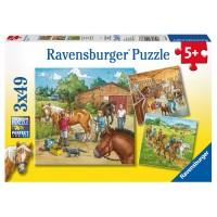 RAVENSBURGER Puzzle Mein Reiterhof,