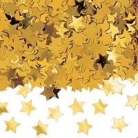 Deko-Konfetti Sterne gold
