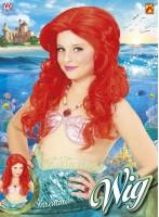 Rote Meerjungfrau Perücke