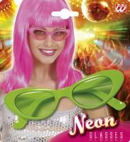 Brille Katze 6 Neonfarben