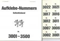 Aufklebenummern für Gabentisch 3001-3500