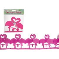 Sombo Papier-Girlande Flamingo 2m