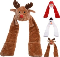 Weihnachtsmütze mit Handwärmer