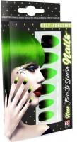 Neongrün-schwarze Fingernägel