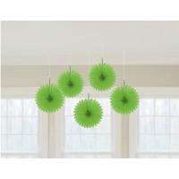 5 Papier-Dekofächer Grün