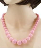 Halskette 70er rosa