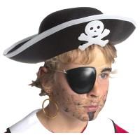 BOLAND Piratenhut Kinder, schwarz