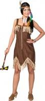 Kostüm Sexy Indianerin, braun Grösse 40 nur Kleid