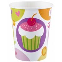 Amscan 8 Becher 266ml Cupcake