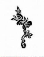 Airbrush Schablone Blume