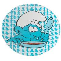 Die Schlümpfe Teller blau