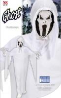 Kinderkostüm Geist mit Scream-Maske 128cm