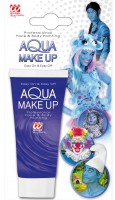 Blaues Aqua Make-Up