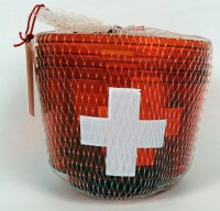 Becher Schweiz mit Teelichtern