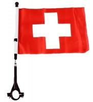 Fahne für Fahrrad Schweiz