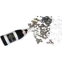 Fasnacht Konfetti Flasche Schwarz / Glitzer
