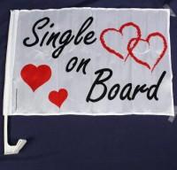 "Autofahne ""Single on Board"""