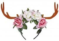 Geweih mit Blumen auf Haarreif