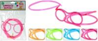 Strohhalm Brille